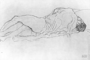 Couple in Bed, c.1915 by Gustav Klimt