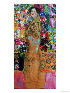Dame Mit Faecher (Maria Munk) Lady with Fan, 1917/18 by Gustav Klimt