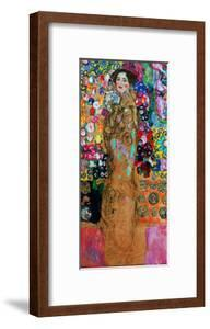 Dame Mit Faecher (Maria Munk) Lady with Fan, 1917/18 by Gustav Klimt