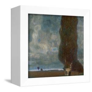 Die grosse Pappel (II) or Aufsteigendes Gewitter. Oil on canvas (1903) 100 x 100 cm. by Gustav Klimt