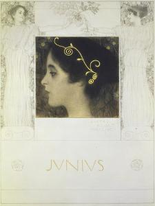 Fair Drawing for the Allegory Junius 1896 by Gustav Klimt