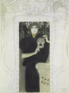 Fair Drawing for the Allegory of the 'tragedy', 1897 by Gustav Klimt