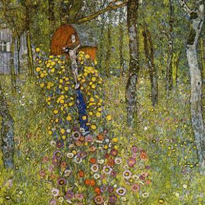 Farm Garden with Crucifix by Gustav Klimt