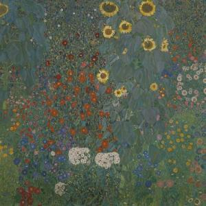 Farm Garden with Sunflowers, 1905/06 by Gustav Klimt