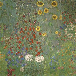 Farm Garden with Sunflowers, around 1905/1906 by Gustav Klimt