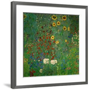 Farm Garden with Sunflowers, c.1912 by Gustav Klimt