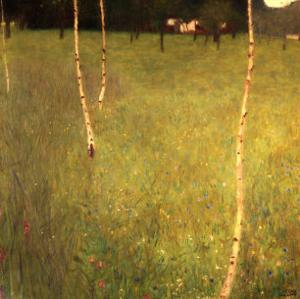Farmhouse with Birch Trees (Bauenhaus Mit Birken) by Gustav Klimt