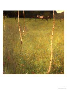 Farmhouse with Birch Trees (Bauenhaus Mit Birken) by Gustav Klimt