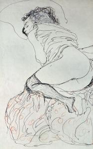 Female Nude, Turned to the Left, 1912-13 by Gustav Klimt