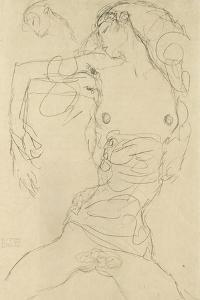 Female Nude with Bent Arm by Gustav Klimt