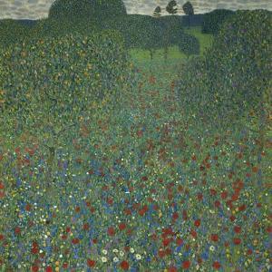 Field of Poppies, 1907 by Gustav Klimt
