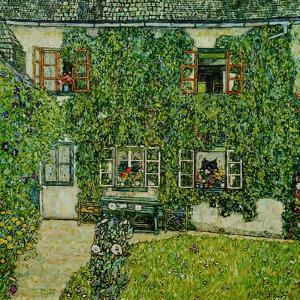 Forsthaus in Weissenbach am Attersee - Forestry house in Weissenbach on Attersee-Lake,1912 by Gustav Klimt