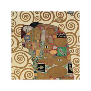 Fulfillment, Stoclet Frieze, c.1909 (detail) by Gustav Klimt