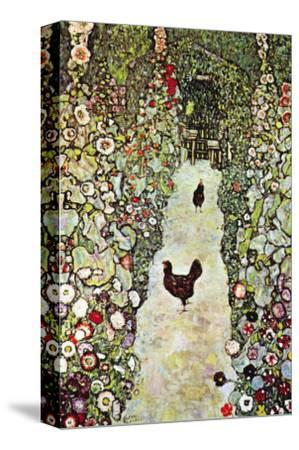 Garden Path with Chickens
