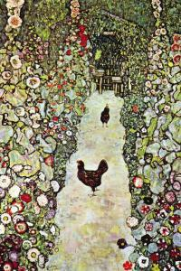 Garden Path with Chickens by Gustav Klimt