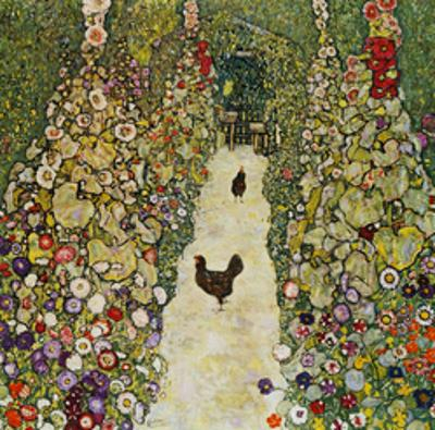 Gardenpath with Hens, 1916