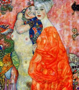 Girlfriends, 1916-1917 by Gustav Klimt