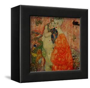 Girlfriends. Oil on canvas (1916-1917) 99 x 99 cm Destroyed by fire in 1945. by Gustav Klimt
