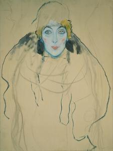Head of a Woman, 1918 by Gustav Klimt
