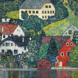 Houses at Unterach on the Attersee, C.1916 by Gustav Klimt
