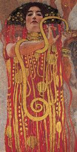 Hygieia (detail from Medicine) by Gustav Klimt