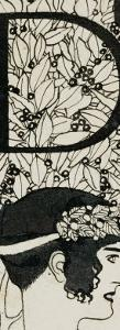 Initial D, Used in the Third Issue of Ver Sacrum, Austria, 1898 by Gustav Klimt