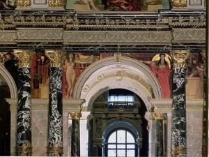 Interior of Kunsthistorisches Museum, Vienna, Figures of Ancient Greece and Ancient Egypt by Gustav Klimt