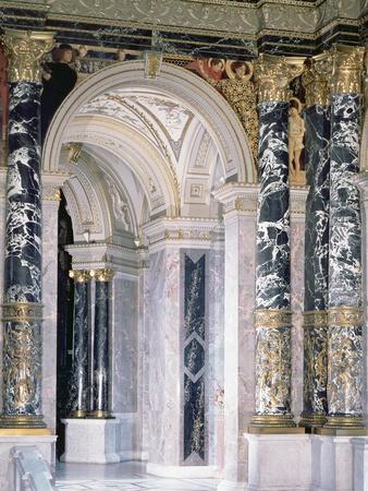 Interior of the Kunsthistorisches Museum in Vienna, Detail Depicting Archway