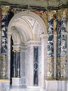 Interior of the Kunsthistorisches Museum in Vienna, Detail Depicting Archway by Gustav Klimt