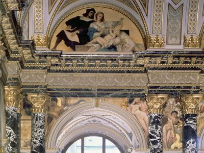 Interior of the Kunsthistorisches Museum, Vienna Depicting Archway with Spandrel Decoration by Gustav Klimt