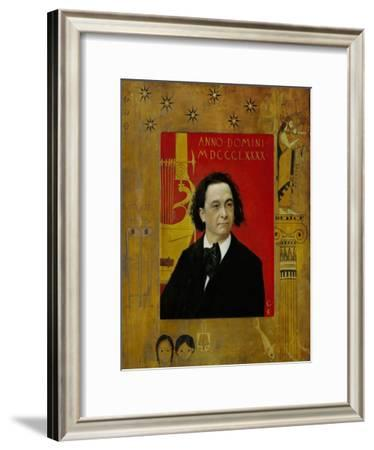 Joseph Pembauer, Pianist and Piano Teacher, Frame Also by Gustav Klimt