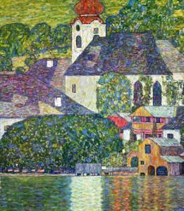 Kirche in Unterach Am Attersee, Church in Unterach on Attersee by Gustav Klimt