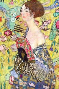 Lady with a Fan, 1917-18 by Gustav Klimt