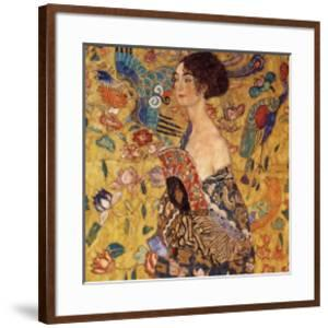 Lady with a Fan by Gustav Klimt