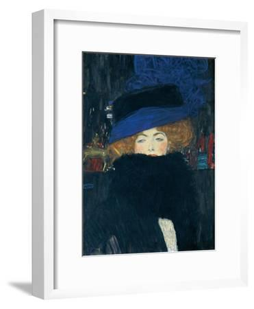 Lady with a Hat and a Feather Boa