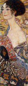 Lady with Fan Detail by Gustav Klimt
