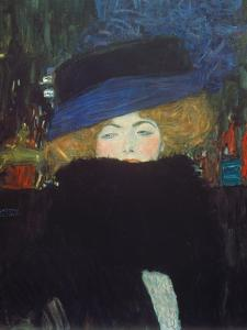 Lady with Hat and Feather Boa, 1909 by Gustav Klimt