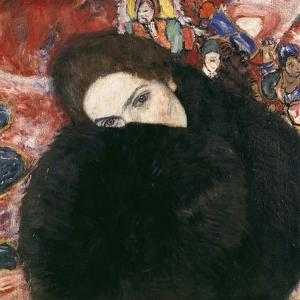 Lady with Muff, 1916-17 by Gustav Klimt