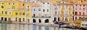 Malcesine Sul Garda Detail by Gustav Klimt