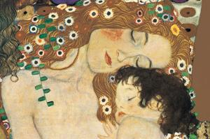 Mother and Child (detail from The Three Ages of Woman), c.1905 by Gustav Klimt