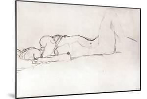 Nude Woman in Bed, c.1914 by Gustav Klimt