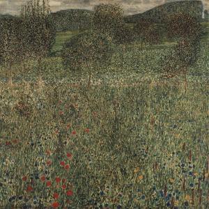 Orchard or Field of Flowers, Ca 1905 by Gustav Klimt