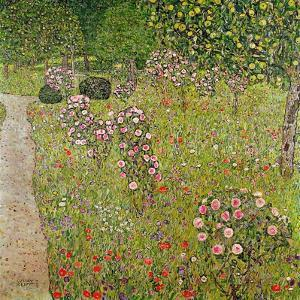 Orchard with Roses (Obstgarten Mit Rosen) by Gustav Klimt