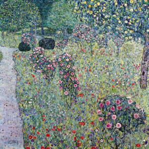 Orchard with Roses by Gustav Klimt