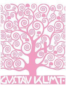 Pink Tree of Life by Gustav Klimt