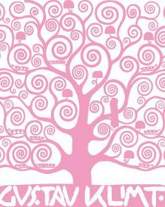 Pink Tree of Life by Gustav Klimt