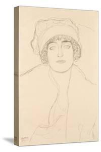 Portrait in a Hat, 1917-118 by Gustav Klimt