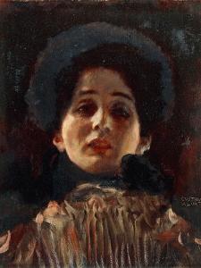 Portrait of a Lady, Frontal View, 1898-1899 by Gustav Klimt
