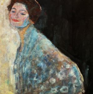 Portrait of a Lady in White, 1917/18 by Gustav Klimt