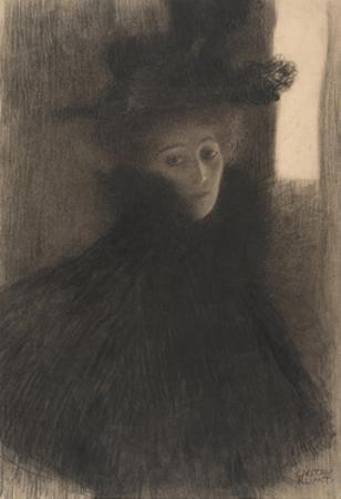 Portrait of a Lady with Cape and Hat, 1897-1898 by Gustav Klimt